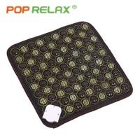 POP RELAX health seat mattress Korea quality jade tourmaline far infrared heating pad thermal mat germanium stone seat mattress