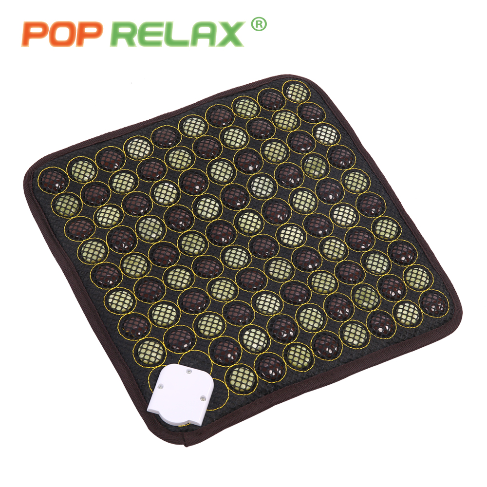 POP RELAX health seat mattress Korea quality jade tourmaline far infrared heating pad thermal mat germanium stone seat mattress