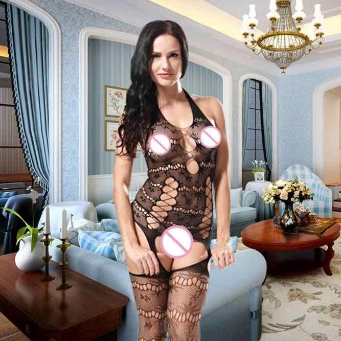 Женское сексуальное прозрачное женское белье Черное Эротическое Кружевное боди