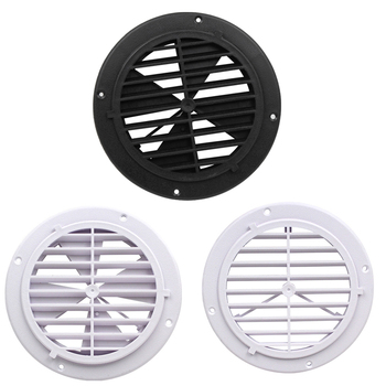 Plastic Round Vent Outlet Louver Exhaust Fan for Car Motorhome Yacht Motorboat Fishing Boat RV Marine 4 inch white black plastic air outlet marine vent for car motorhome yacht motorboat fishing boat rv marine