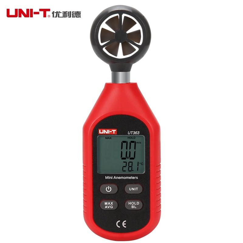 UNI-T UT363 Digital Anemometer Wind Speed Meter 0-30m/s Air Flow Tester -10~50C / 144~122 F Thermometer  цены