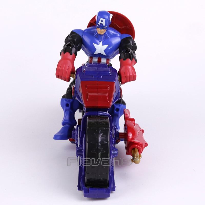 <font><b>Marvel</b></font> <font><b>Super</b></font> <font><b>Hero</b></font> <font><b>Mashers</b></font> Captain America / <font><b>Iron</b></font> <font><b>Man</b></font> <font><b>with</b></font> Motorcycle PVC Action <font><b>Figure</b></font> Collectible Model Toy