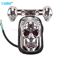 12V 20W High Quality Motorcycle Quad ATV Turn Signal & Rear Brake Tail Light Chrome Skull FREE SHIPPING
