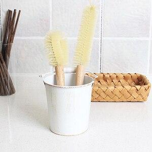 Image 2 - Copo de madeira caneca escova de limpeza lidar com pratos garrafa pan pot escovas de lavagem multifuncional cozinha limpeza acessórios ferramentas