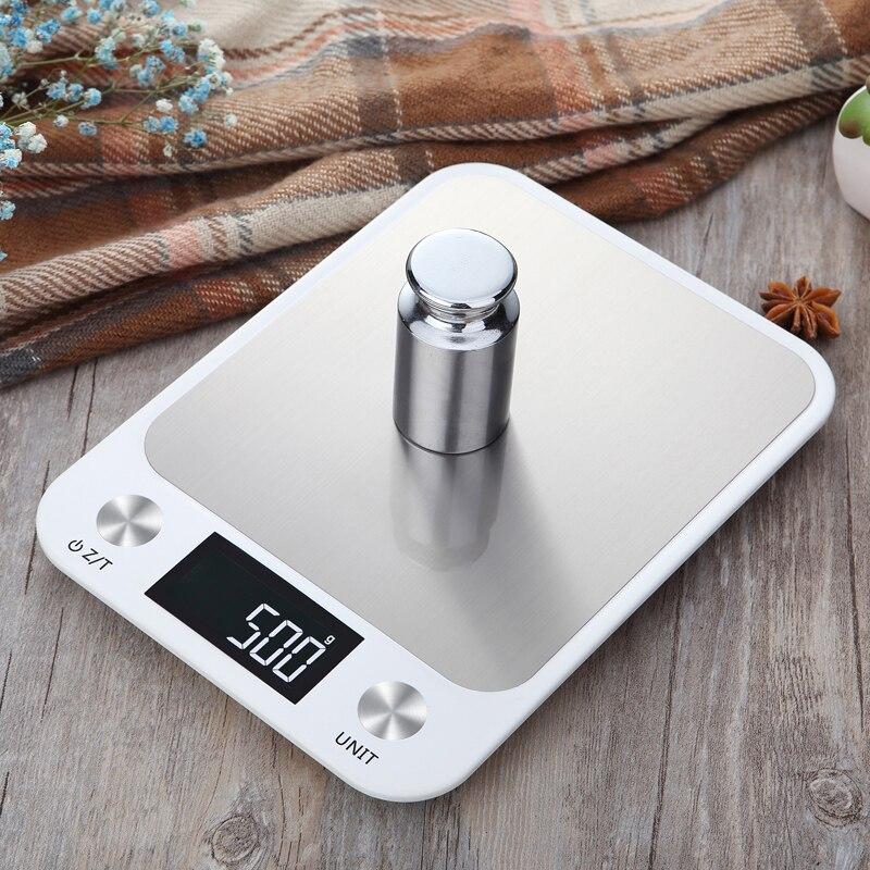 Цифровые кухонные весы, Многофункциональные кухонные весы до 10 кг из нержавеющей стали с ЖК экраном-4