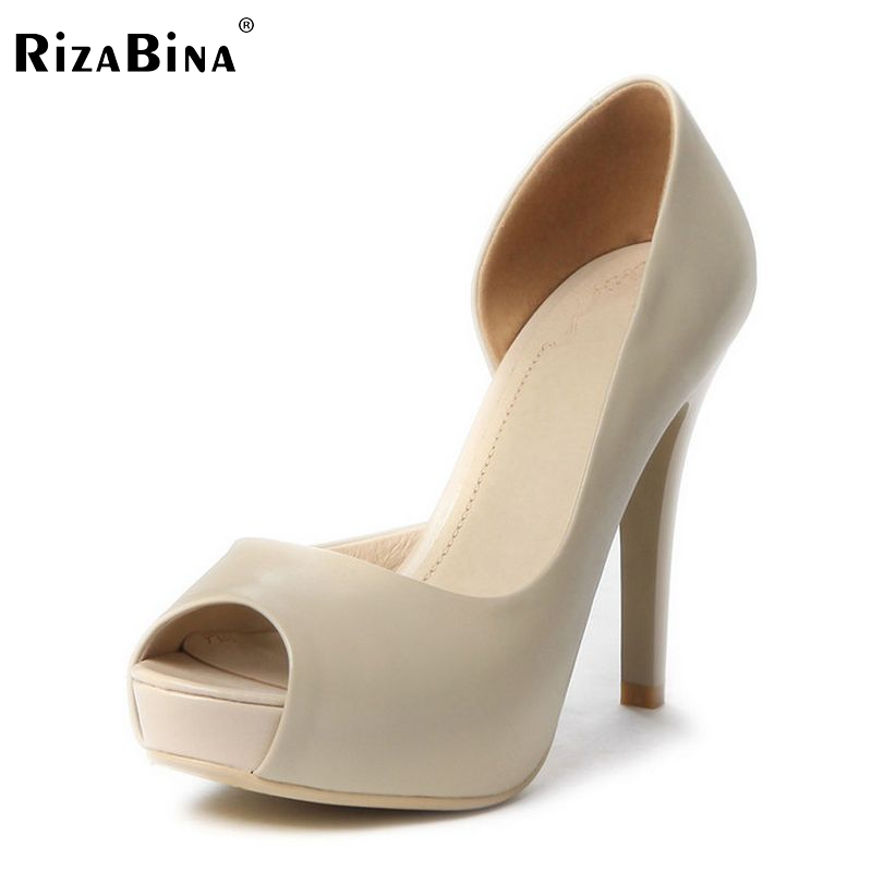 women real genuine leather platform peep open toe high heel shoes sexy fashion brand pumps ladies heels shoes size 34-39 R5616 allbitefo fashion sexy thin heels pointed toe women pumps full genuine leather platform office ladies shoes high heel shoes