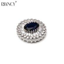 RIANCY  DIY Pendant Necklace Jewelry Clasp Accesorry Round exquisite workmanship Micro inlaid zircon