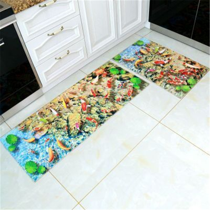 3D Kitchen Carpet Alfombra Cocina Doormat Kitchen Mats For Floor Deurmat Front Door Mat Rugs For Kitchen Antislip Outdoor Indoor