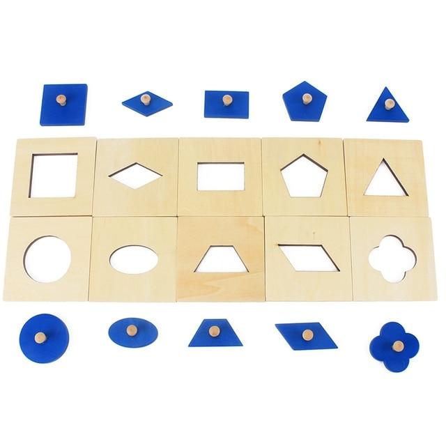 Versión Familiar bebé juguete Montessori juego de juegos de madera/10 educación de la primera infancia Educación Preescolar Juguetes para niños