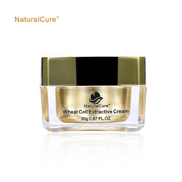 NaturalCure extractivas celular crema de trigo. reducir lipofuscina facial, mejorar la elasticidad de la piel, blanquear la piel de la cara