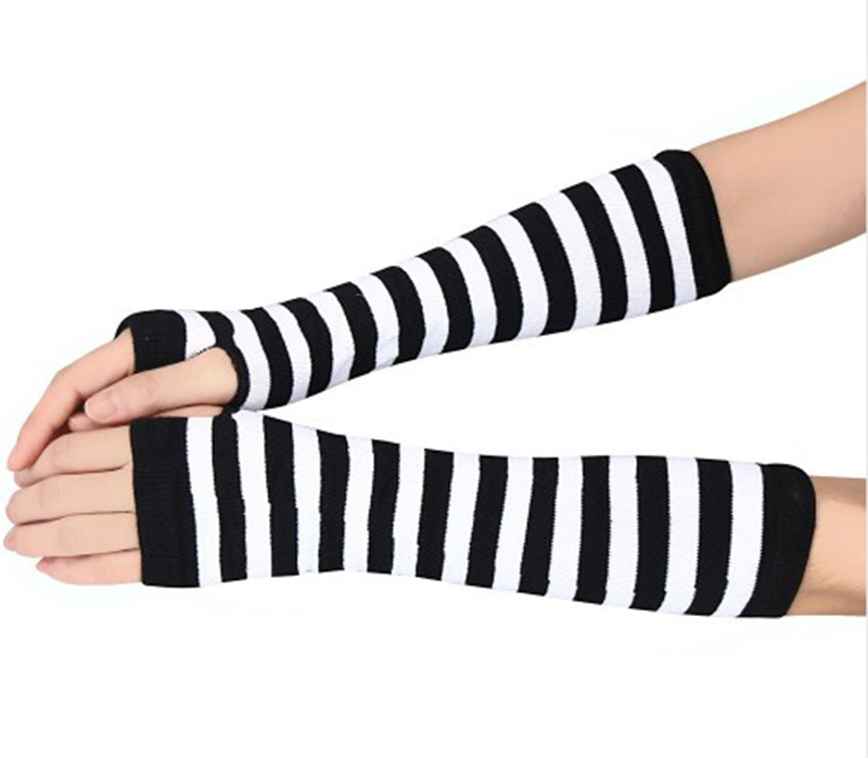 Striped Woman Sunscreen Arm Warmers Long Sleeve Cotton UV Guantelete Dodge Ram The New Listing Factory Summer in Women 39 s Arm Warmers from Apparel Accessories
