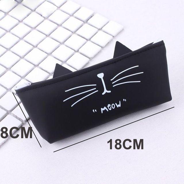 2018 Kawaii Cat Pencil Case Silica Gel School Supplies Stationery Gift School Box School Tools Coin Purse