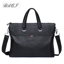 купить BAQI Brand Men HandBags Men Briefcase Bag Genuine Cow Leather 2019 Fashion Man Shoulder bags Messenger Bag Computer Business Bag по цене 3326.2 рублей