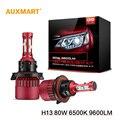 Auxmart H13 G9 9008 SMD LED Автомобилей Лампа Фары Комплекты 6500 К 9600LM 80 Вт Фары Все-в-одном Высокой ближнего света Противотуманные фары DRL 12 В 24 В