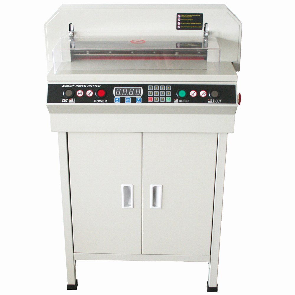 AUTOMATIC ELECTRIC NUMERICAL CONTROLLED TRIMMERS CE & ISO 9001 CERTIFICATION 17.7 PAPER CUTTING MACHINE L 450MM CUTTER
