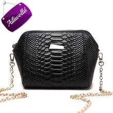 Women Messenger Bags Alligator Crocodile Leather Mini Shell Women Crossbody Bag Fashion Chain Shoulder Bag Purse Handbag Bolsas