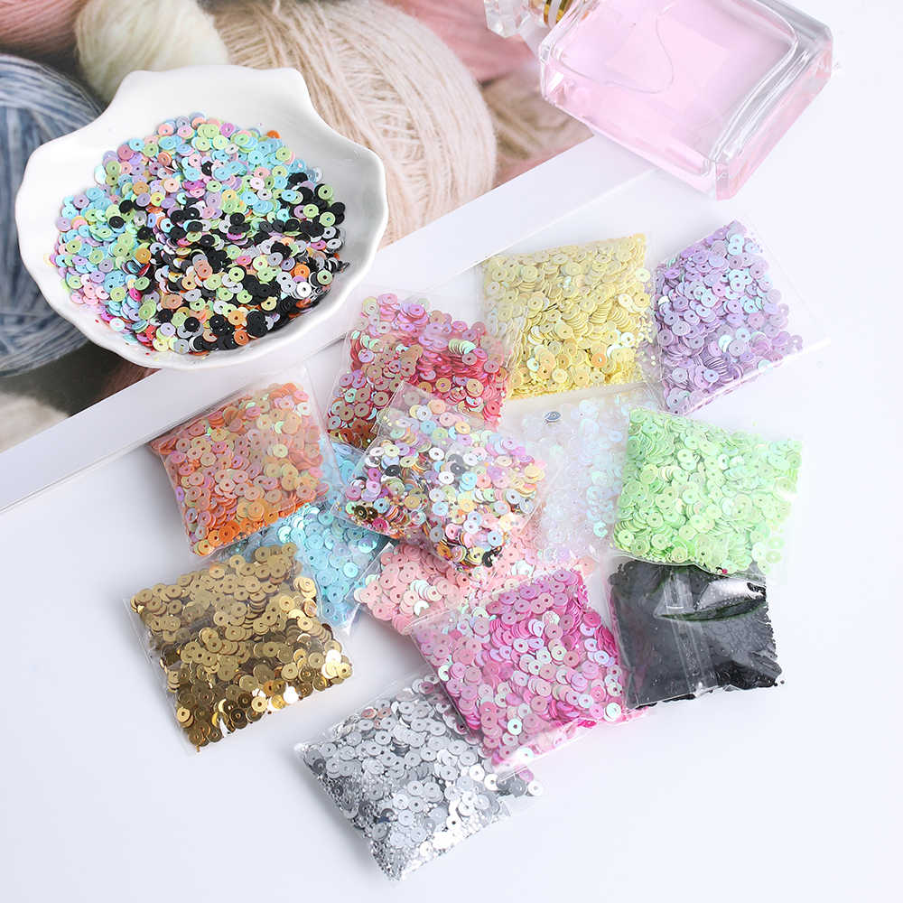 1000pcs/pack 4mm Multicolor Plastic Loose Sequins Embellishment sewing Accessories for Home Party wedding Decor DIY crafts