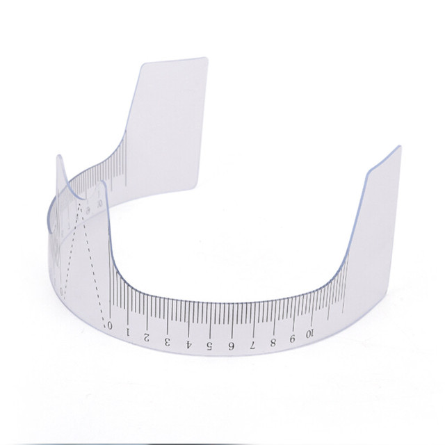 1Pc Eyebrow Grooming Stencil Shaper Ruler Measure Tool Makeup Reusable Eyebrow Ruler Tool Measures 1