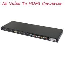 2017 New ALL to HDMI converter AV YPbPr DVI VGA HDMI  All Video to HDMI Converter Scaler Full HD 720/1080P 3D
