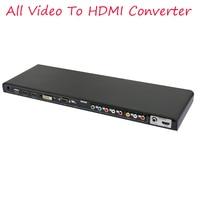 2016 New ALL To HDMI Converter VGA PC Audio Video YPbPr AV USB HDMI DVI All