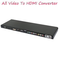 2018 New ALL to HDMI converter AV YPbPr DVI VGA HDMI All Video to HDMI Converter Scaler Full HD 720/1080P 3D