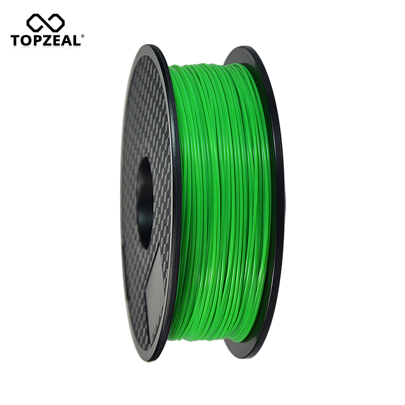 TOPZEAL 3D Filament Glow Green in the Dark PLA Plastic Filament for 3D Printer 1.75mm 1KG Spool цена