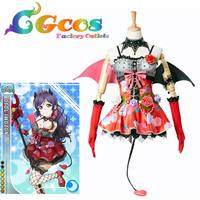CGCOS Free Shipping Cosplay Costume Love Live Devil Demon Tojo Nozomi Uniform Halloween Party Uniform