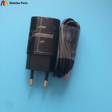 Original Used Travel Charger + USB Cable USB Line For Doogee Y6 Piano Black 4+64G 5.5 Inch MT6750 1280x720 Free Shipping стоимость