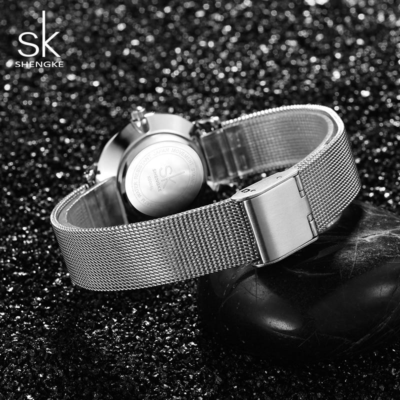 Shengke órák Női ezüst luxus rozsdamentes acél órák Reloj - Női órák - Fénykép 5
