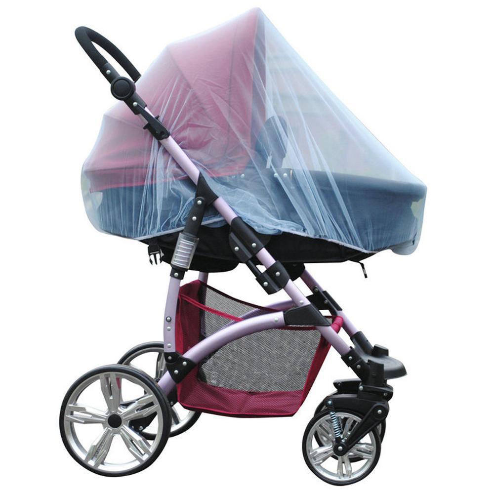 Universal Mosquito net for Stroller and pram White Stroller-Insect net Stroller net