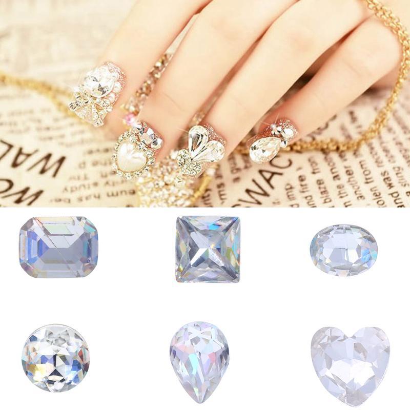 3D Transparent Multicolor AB Rhinestone Gems Glitter Pearl