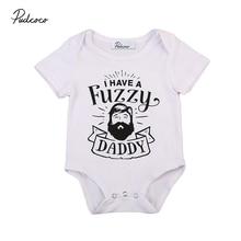 Fuzzy Daddy Newborn Baby Romper