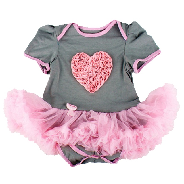 3d love valentines day outfits baby girl wedding dress lace romper dress robe bebe fille vestidos