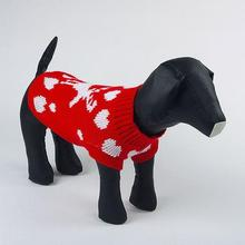 Winter Canine Pet Heat Knit Mix Sweater Garments Pet Jacket Coat Jumper Tops Trend Clothes H1