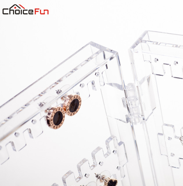 Online Shop CHOICE FUN 4 Doors Plastic Clear Acrylic Jewellery