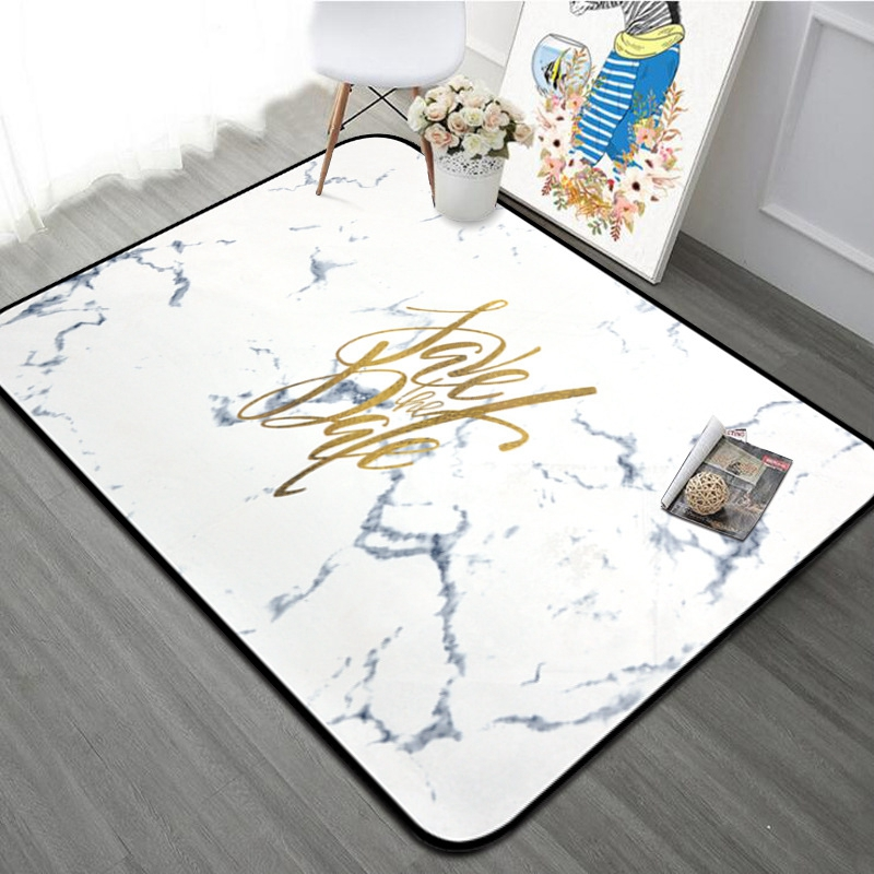Us 33 3 30 Off Nordic Style White Gold Super Soft Carpet Area Rug Living Room Bedroom Decorative Floor Mat Yoga Kids Play Rugs In