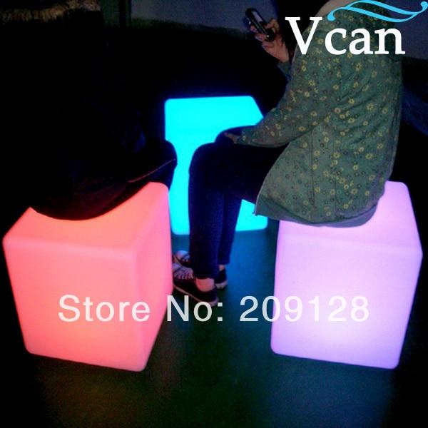 LED Lighting Cube Chair  30*30*30cm  VC-A300