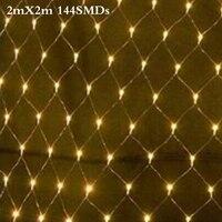 2M X 2M 144 Led 8 Modes 220V Super Bright Net Mesh String Light Xmas Christmas