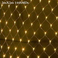 2 M x 2 M 144 Led 8 tryby 220 V super bright netto mesh string światła xmas christmas lights nowy rok ogród ślub wakacje oświetlenie