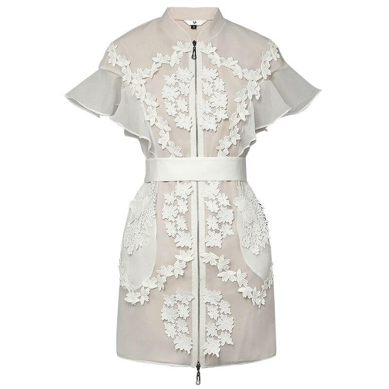 Stand Collar Dress Designs : Aliexpress buy new retro runway designer dress lady