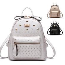 Lodogsow мода рюкзак колледж девушка школьные рюкзаки искусственная кожа Mochila Escolar сумка Роскошные Цвета: черный, золотистый, серебристый рюкзак женская