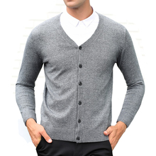 2016 Men's Casual Clothing Autumn and Winter Male V-neck Wool Woven Cardigans Men Mature Botton Fashion Sweater Waistcoat