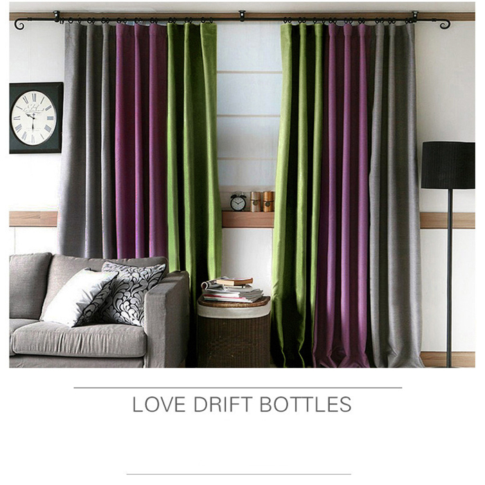 Korean Cotton Simple Curtain Living Room Bedroom Curtains Custom Purple Green Blackout Finished On Aliexpress Alibaba Group