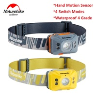 Hand Motion Sensor Headlamp Induction USB Rechargeable Headlight 4 Switch Modes Head Flashlight Torch lamp For Camping fishing