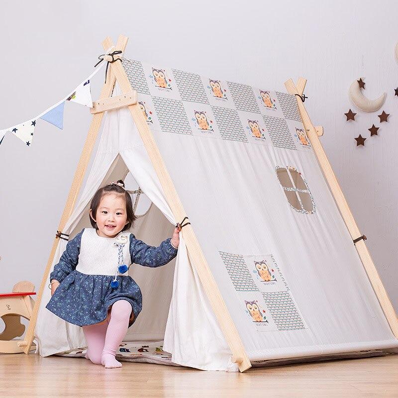 Kinderen Tent Oversized Indoor Game Room Baby Jongen en Meisje Speelgoed Huis Spel Tent Koningin Prinses Huis Vouwen Speeltent - 3