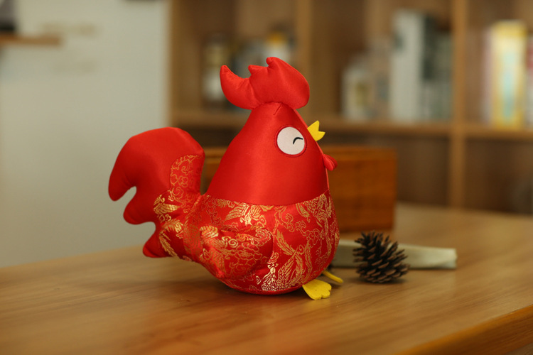 2017 Chinese New Year Zodiac Chicken Plush Toy Doll New Hot Xmas