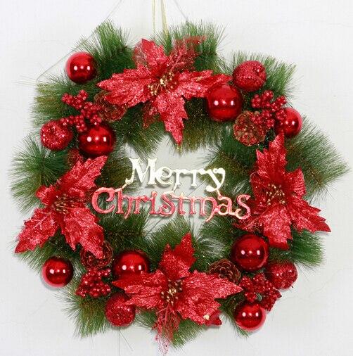 Guirnalda de flores navidad adornos navidad material completo de