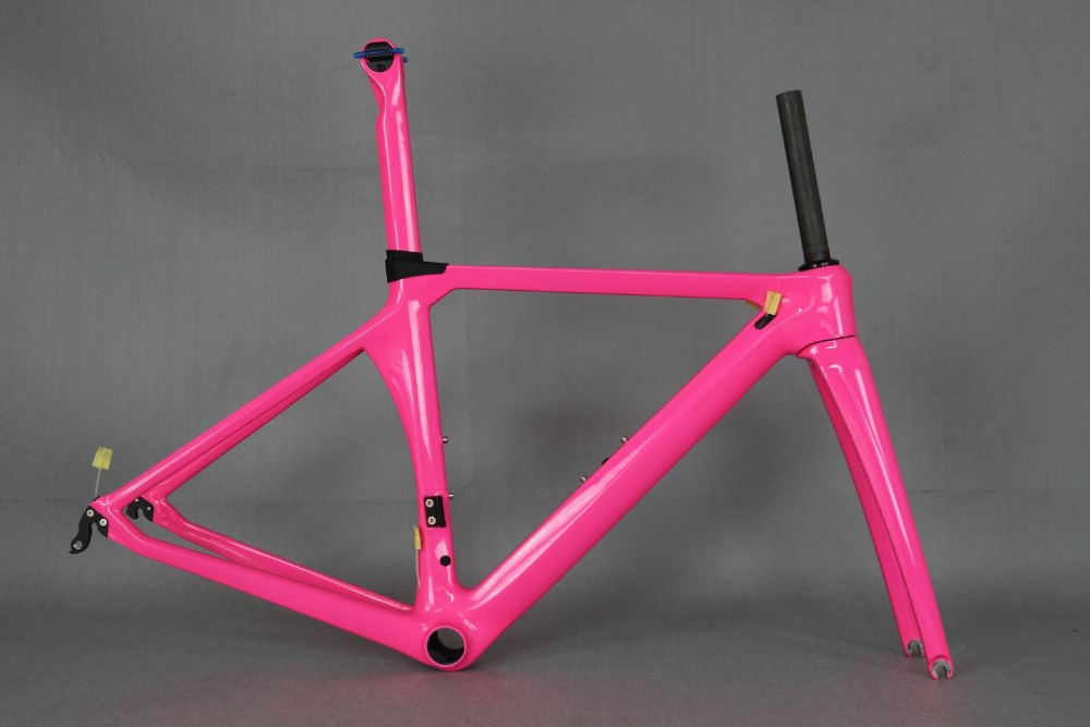 Custom Paint  Road Bicycle Carbon Frame . Aero Bike Frame Oem Factory Directly Sale , Lady Bike Frame