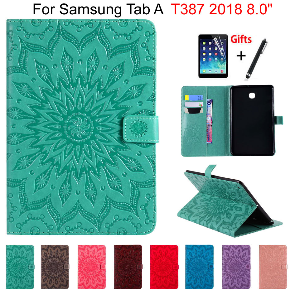3D Sunflower Case For Samsung Galaxy Tab A 8.0 T387 T387V 2018 8.0