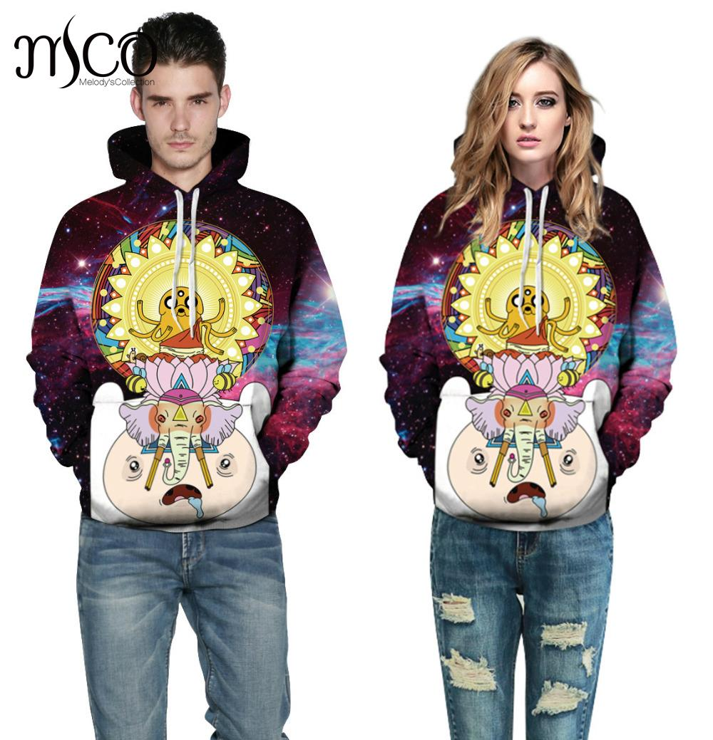Plus Size 3XL Sweatshirt New Hoodies Women Cartoon Printing Lovers Fitted with A Large C ...